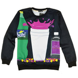 Purple Drank Black Pullover Sweatshirt