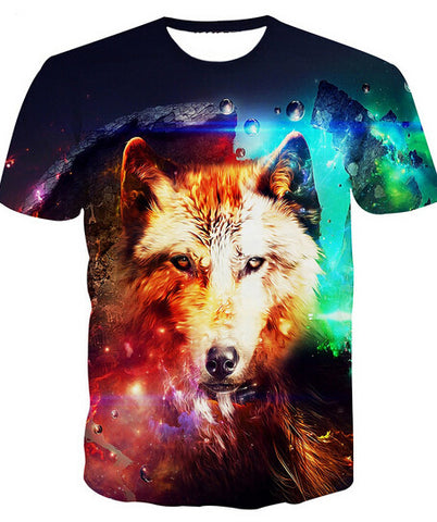 Spirit Wolf Four Elements T-shirt