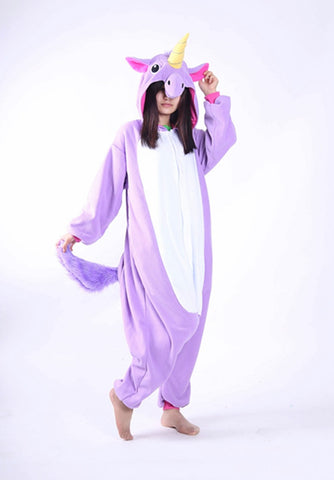 white on purple unicorn onesie