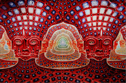 alex grey faces art print