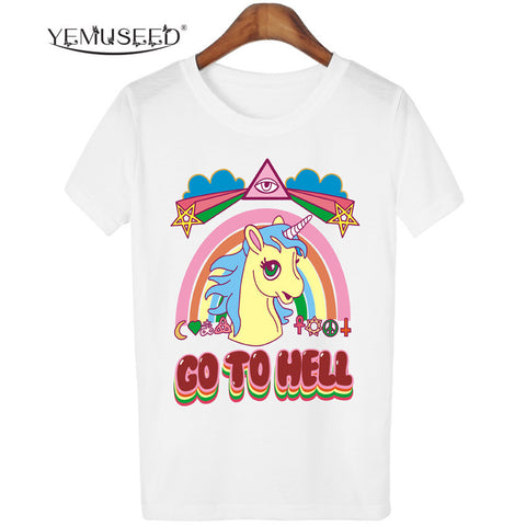 Go To Hell Unicorn T-shirt