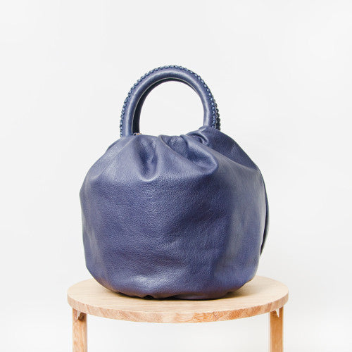 Shifuku Leather - Navy Designer Handbag 2