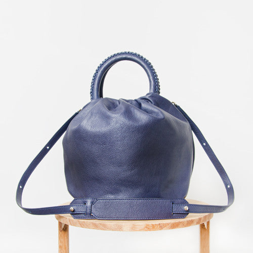 Shifuku Leather - Navy Designer Handbag