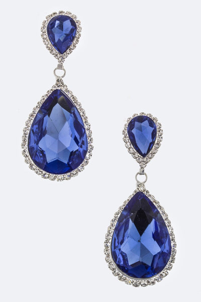 Royal Tear Drop Earrings