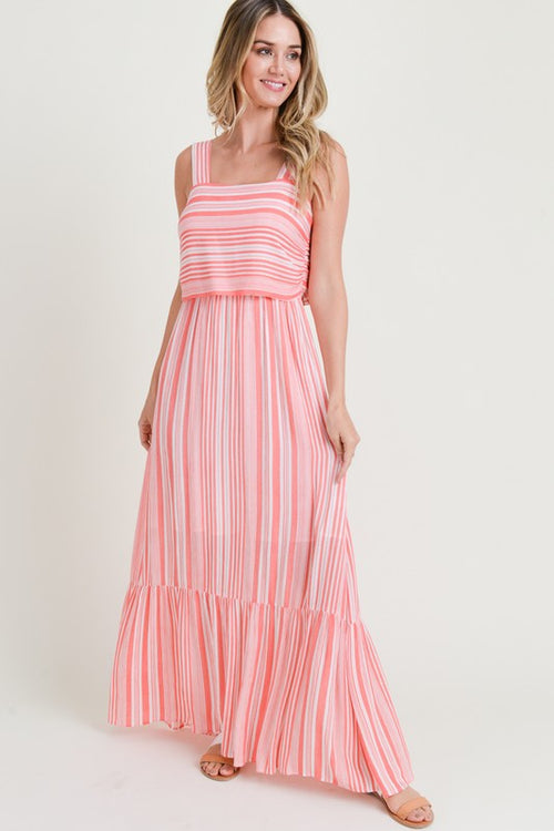 Striped Neons Maxi Dress