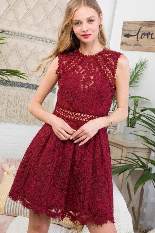 Burgundy for Days Dress