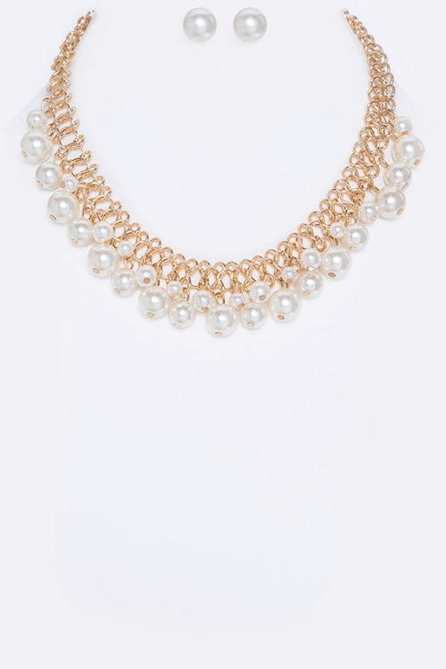 Fringe Pearls Necklace