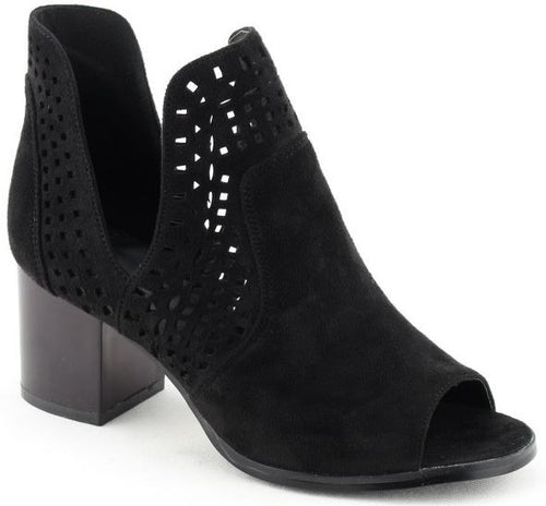 Black Open Toe Bootie