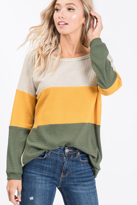 Hunter Green Striped Double Hoodie