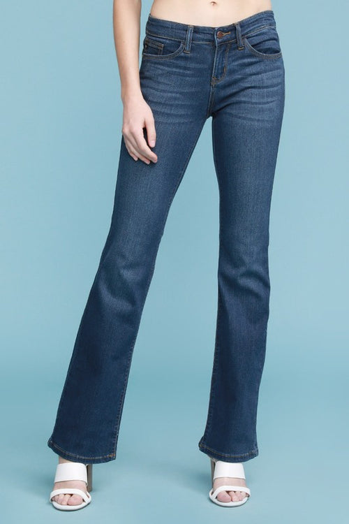 Dark Wash Bootcut Denim Jeans