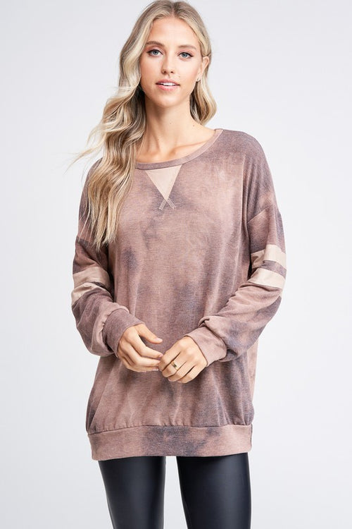 Brown Wash Dyed Sweater