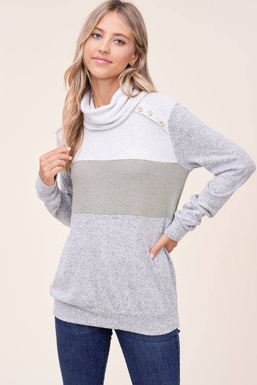 Heather Olive Soft Pullover