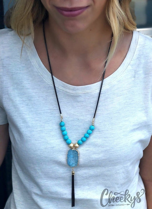 Natalie Tassel Necklace in Gold