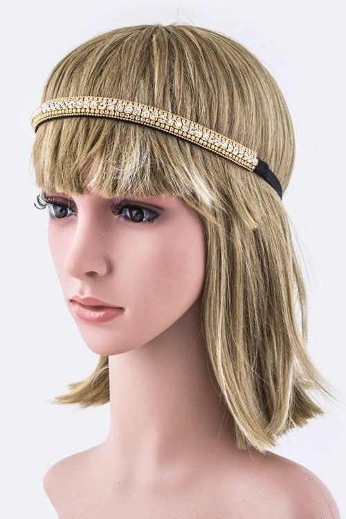 Line of Crystals Stretch Headband