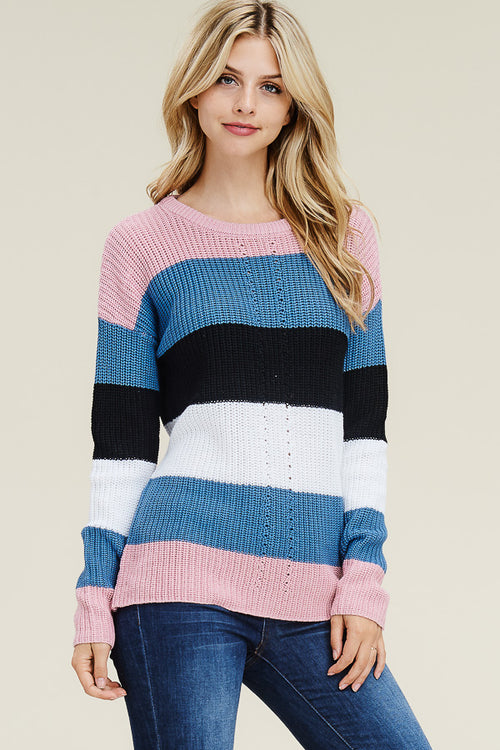 Color Block Crazy Sweater