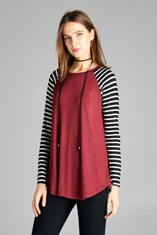 Burgundy Take Me Out Top