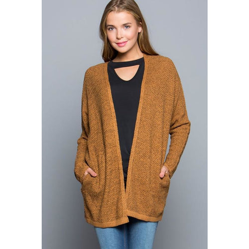 Camel Knit Sweater Cardigan