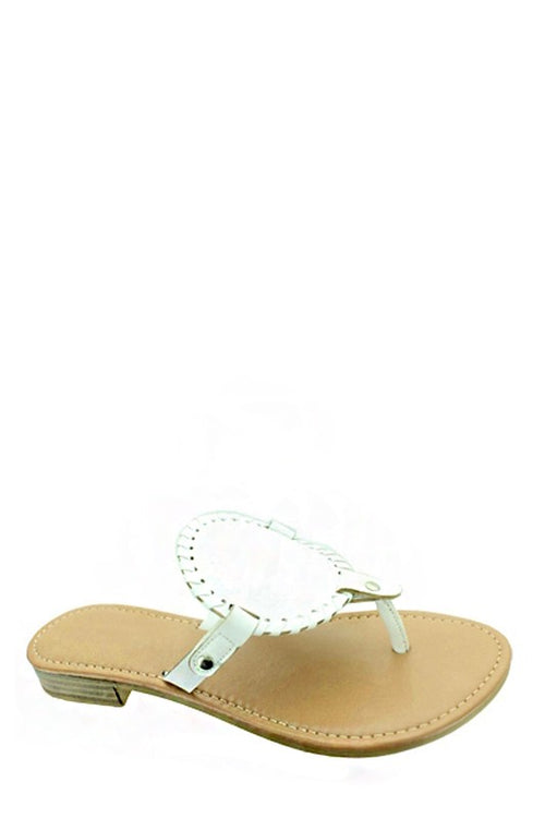 Rose Sandal White