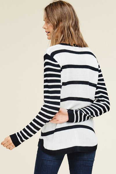 Into You Striped Sweater