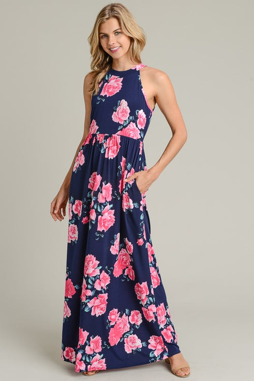 Navy for You Maxi Dress