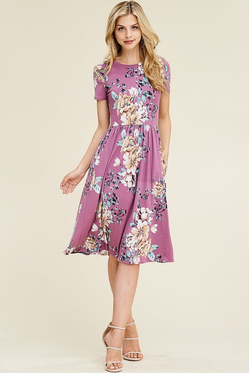 Mallory Mauves Floral Dress