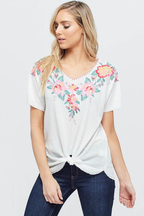 Lizzie Embroidered Top
