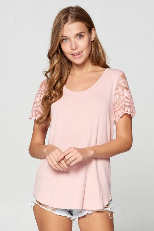 Kerri Lace Sleeved Top