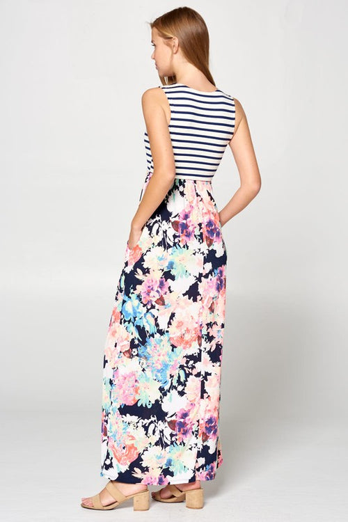Full of Color Floral Striped Maxi
