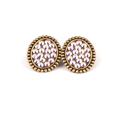 Pink Panache Oval Post Earring