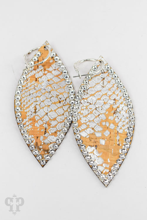 Silver Python Earrings