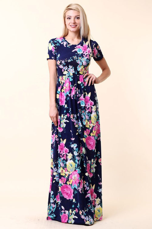 Flooded In Floral Maxi Dress
