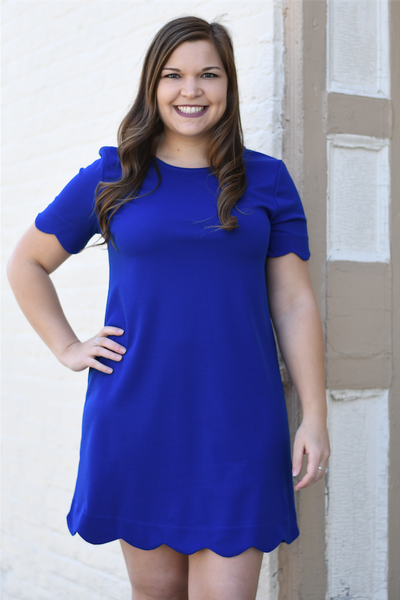Royal Rosie Scalloped Dress