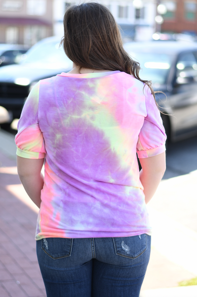 Tie Dye Terry Top