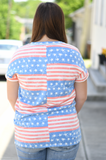 Denim Stars & Stripes Top