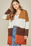 Fall Vibes Color Block Cardigan