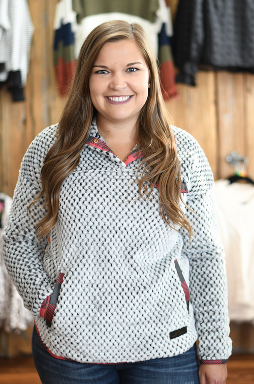 Simply Southern Gray Buffalo Pullover