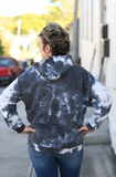 Charcoal Tie Dyed Hooded Pullover