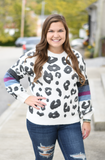 Charcoal Leopard Fuzzy Sweater