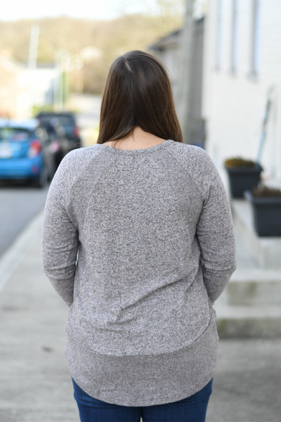 Charcoal Soft Ribbed Sweater