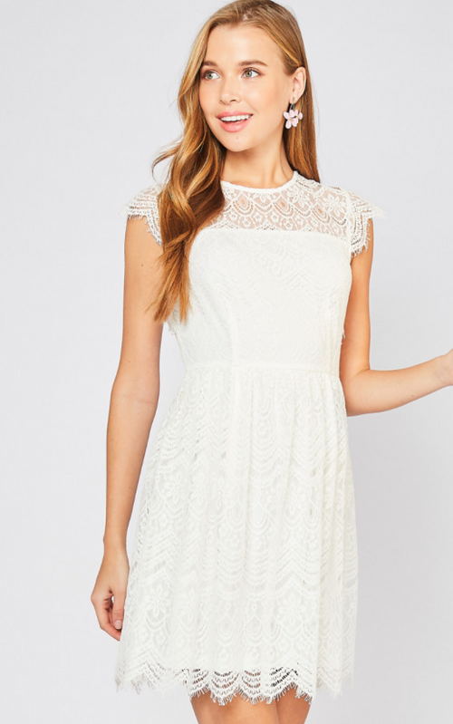 Ivory Into You Lace Dress