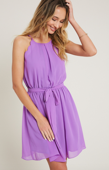 Simple Scalloped Dress