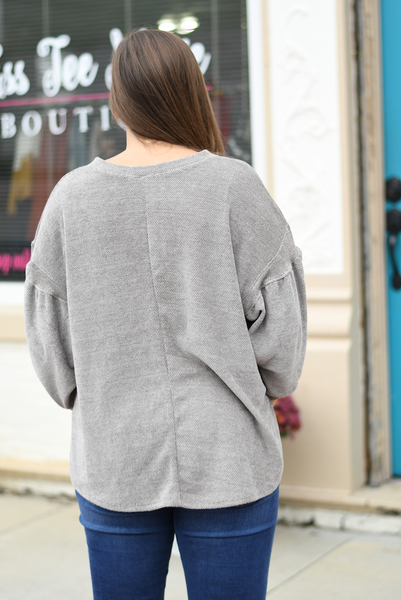 Sand Balloon Sleeve Sweater