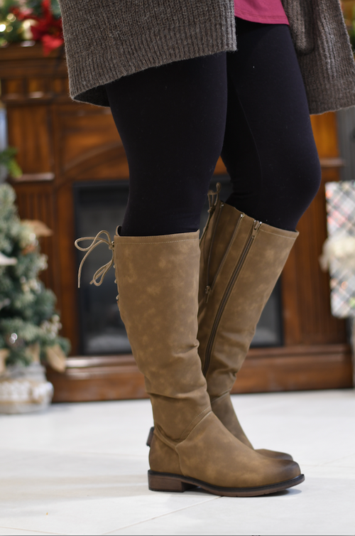 Taupe Barcelona Tall Boot