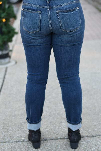 Cuffed Straight Fit Jean