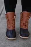 Tan Brown Duck Boot