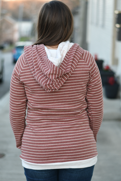 Brick Striped Double Hoodie