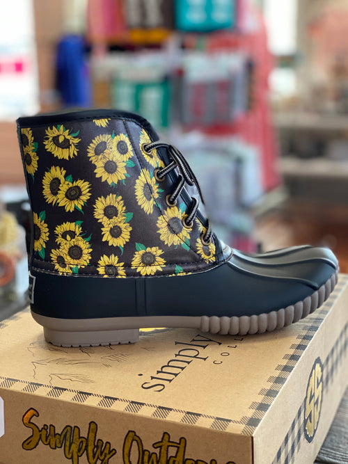 Simply Southern Lace Sunflower Boots