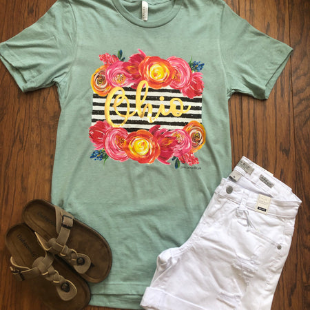 Ohio Orchid Floral Tee