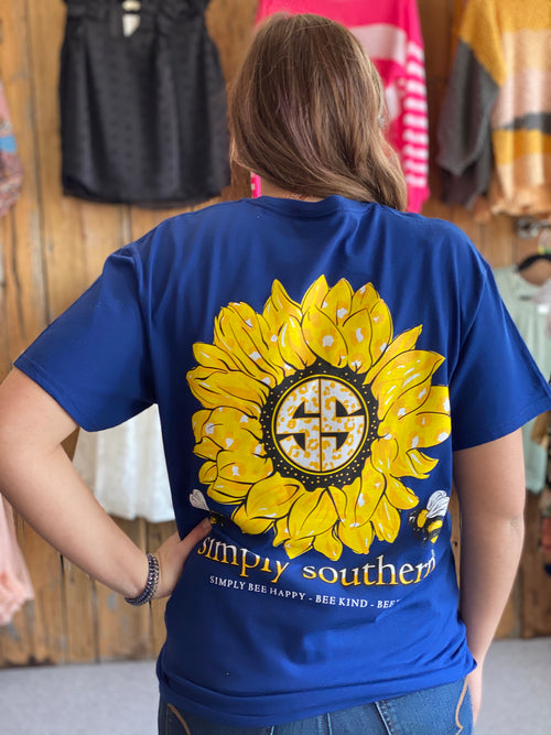 Simply Southern Navy Sunflower