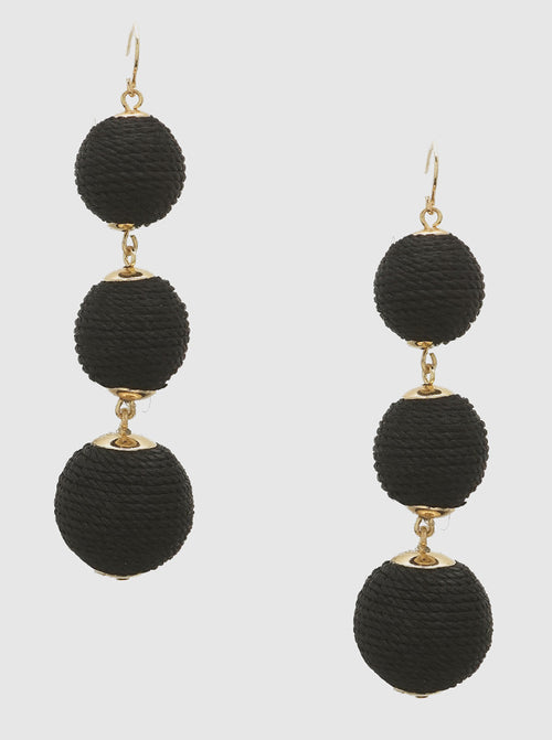 Large Wrapped Ball Drop Earrings